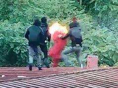 f9f6c204 Joven resultó quemado mientras manipulaba molotov en el Instituto Nacional