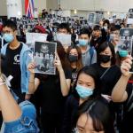 La muerte de estudiante Hong Kong